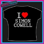 I LOVE HEART SIMON COWELL TSHIRT